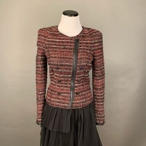 Zara tweed crop jacket Xs